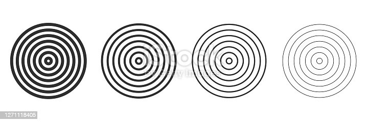 Spiral and swirl set simple circles design element. Vector illustration. Vector illustration eps10.
