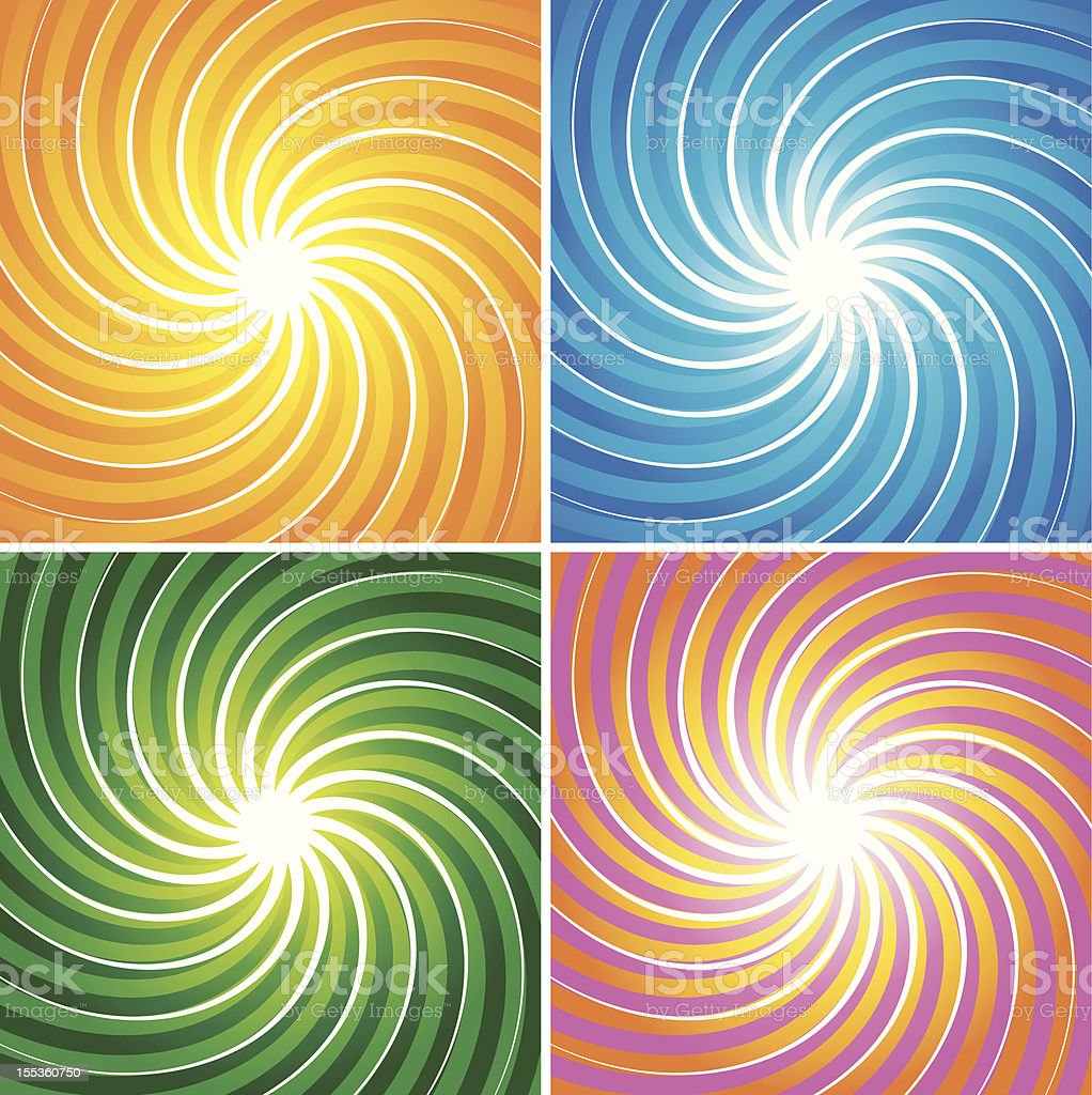 Spiral Background Set royalty-free stock vector art