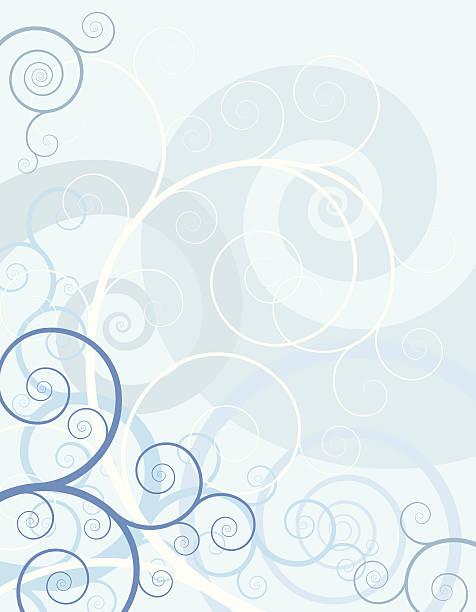 Spiral Blue Fantasy vector art illustration