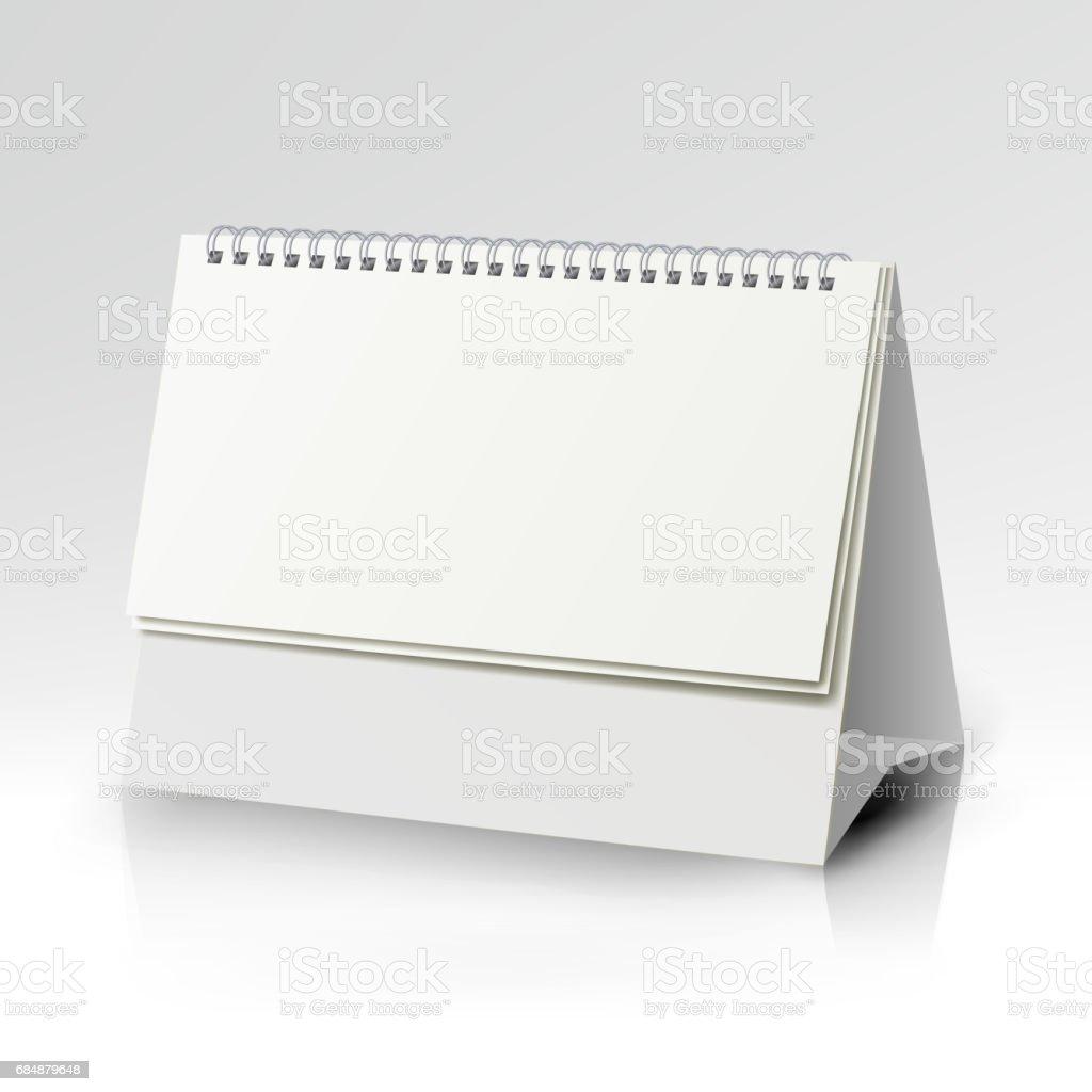 Kalendervorlage Vektor Spirale Vertikale Tischkalender Mit Leeren ...