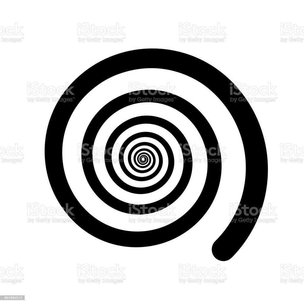 Spiral color black on the white background. Vector illustration vector art illustration