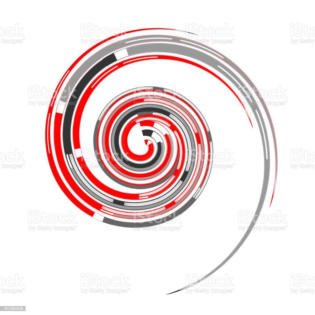 Spiral Design Element Vortex Movement Stock Illustration - Download
