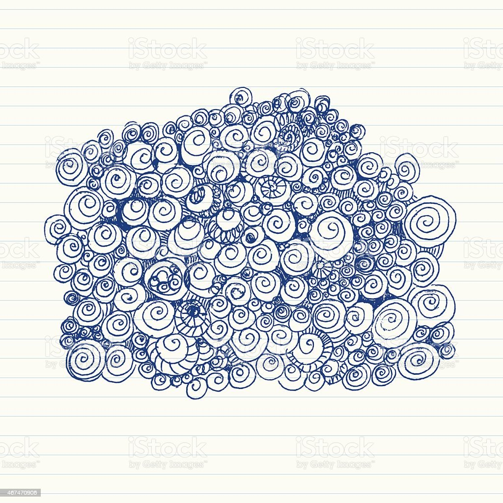 Spiral Doodles vector art illustration