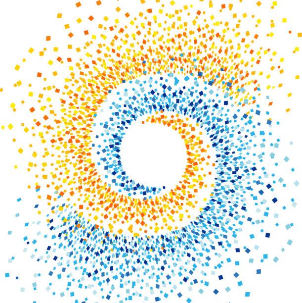 spiral fragments background - zwinięty aranżacja stock illustrations