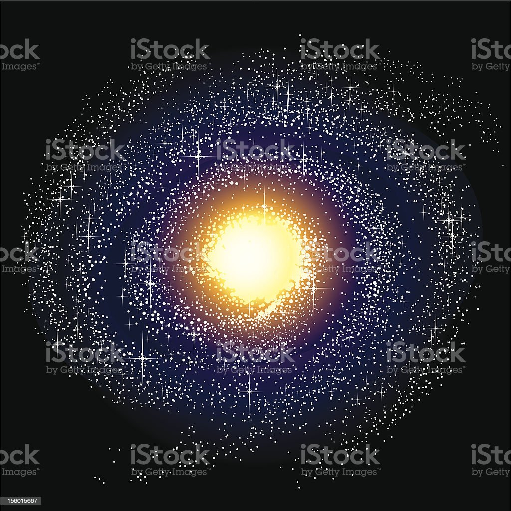 Spiral Galaxy - Milky Way vector art illustration