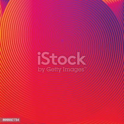 istock Spiral Halftone pattern background 899992734