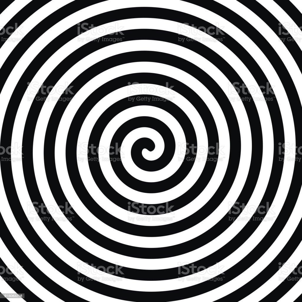 Spiral Hypnosis vector art illustration