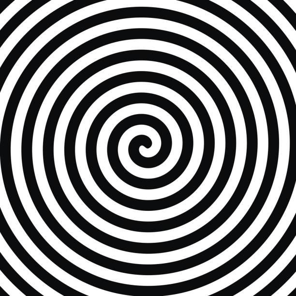 spiral hypnosis - spiral stock illustrations