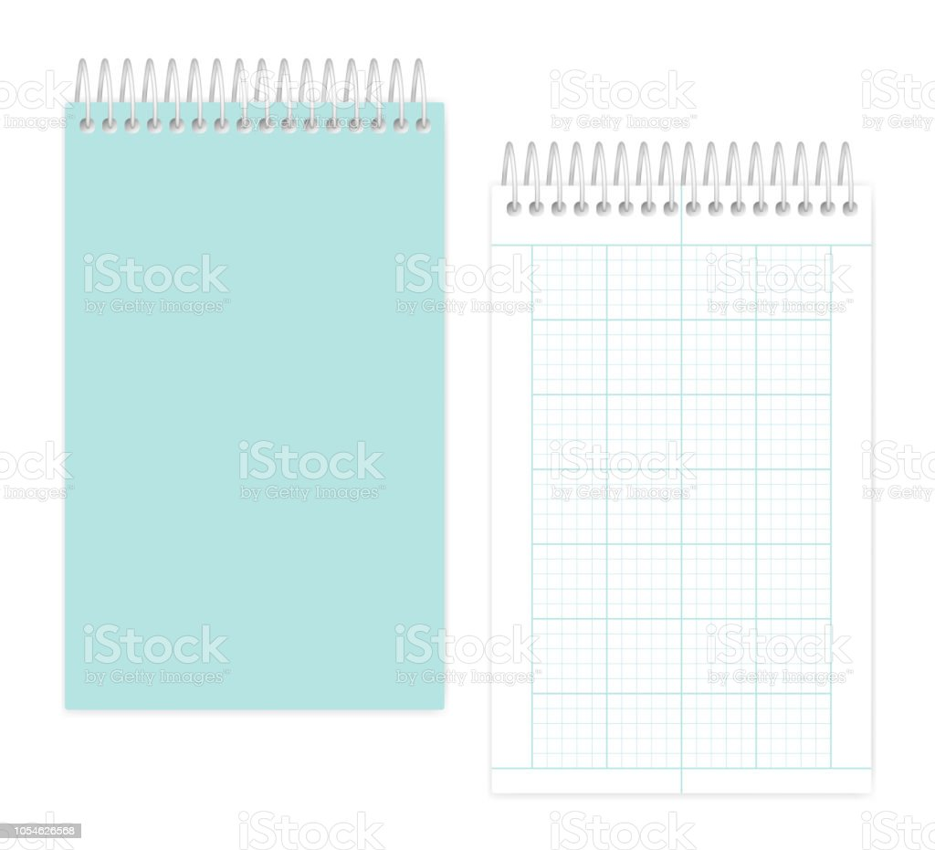 Spiral Junior Legal Size Notebook With Squared Metric Field Rule - Legal paper