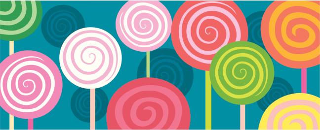 Spiral lollipops in oblong