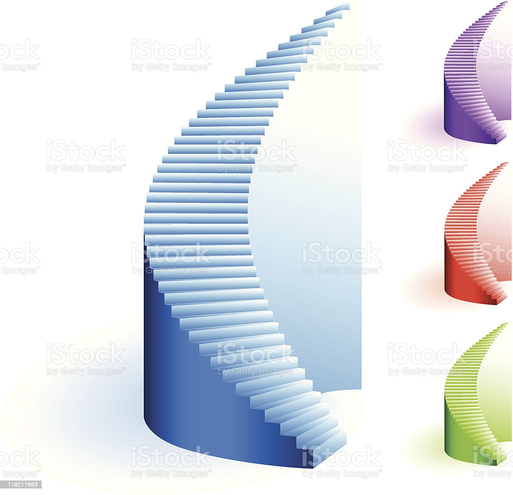 royalty free spiral staircase clip art vector images rh istockphoto com