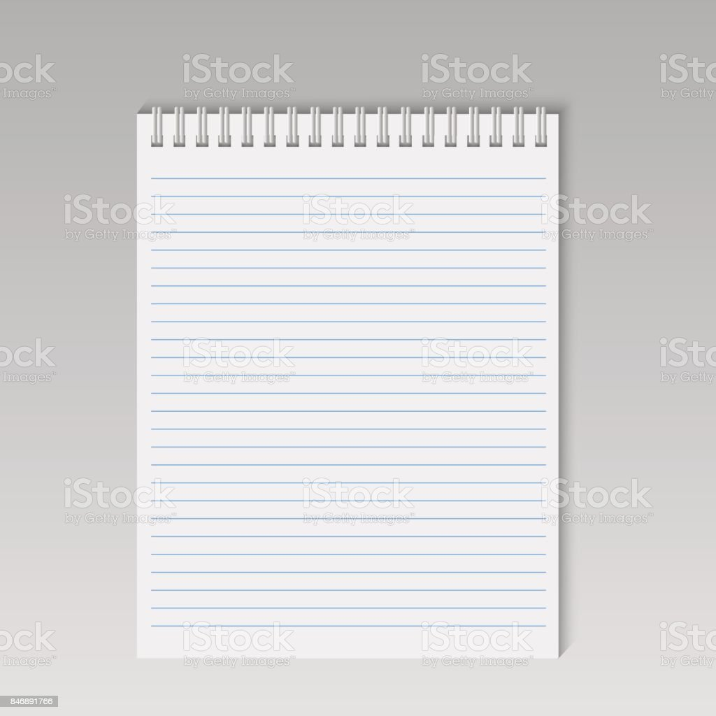 Spiral notepad with lines. Vector. vector art illustration
