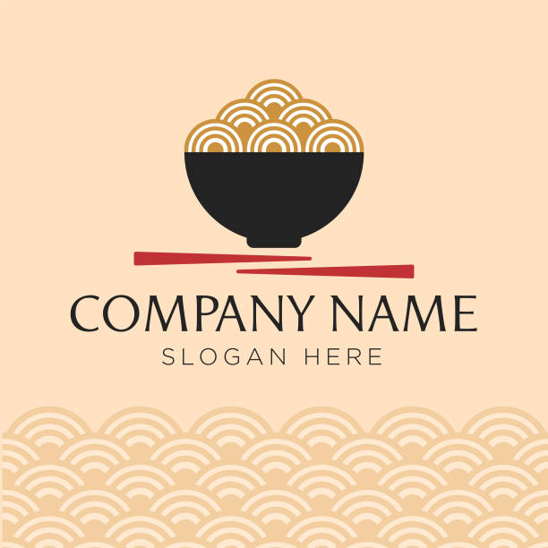 spiral of blue dna, molecular element, logo company concept - japanese food stock illustrations