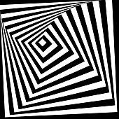 Spiral pattern of growing squares.