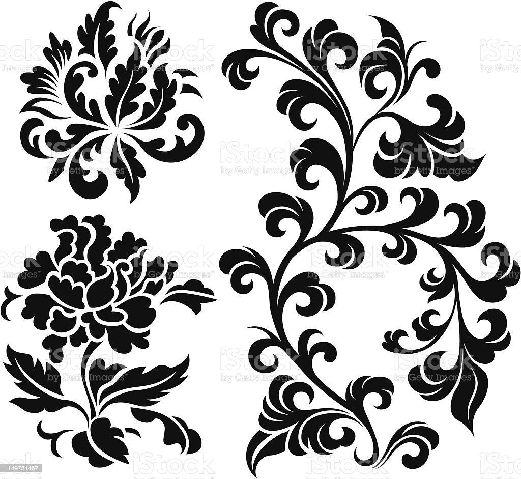 spiral plant illustration vector art illustration