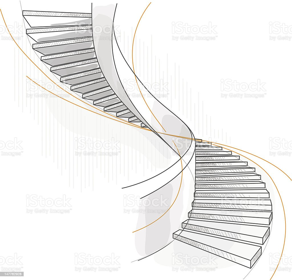 Spiral staircase. royalty-free stock vector art