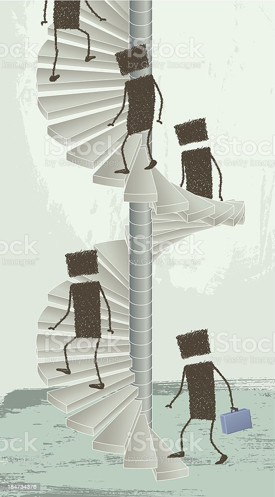 Spiral Staircase royalty-free stock vector art