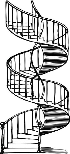 Best Spiral Staircase Illustrations, Royalty-Free Vector