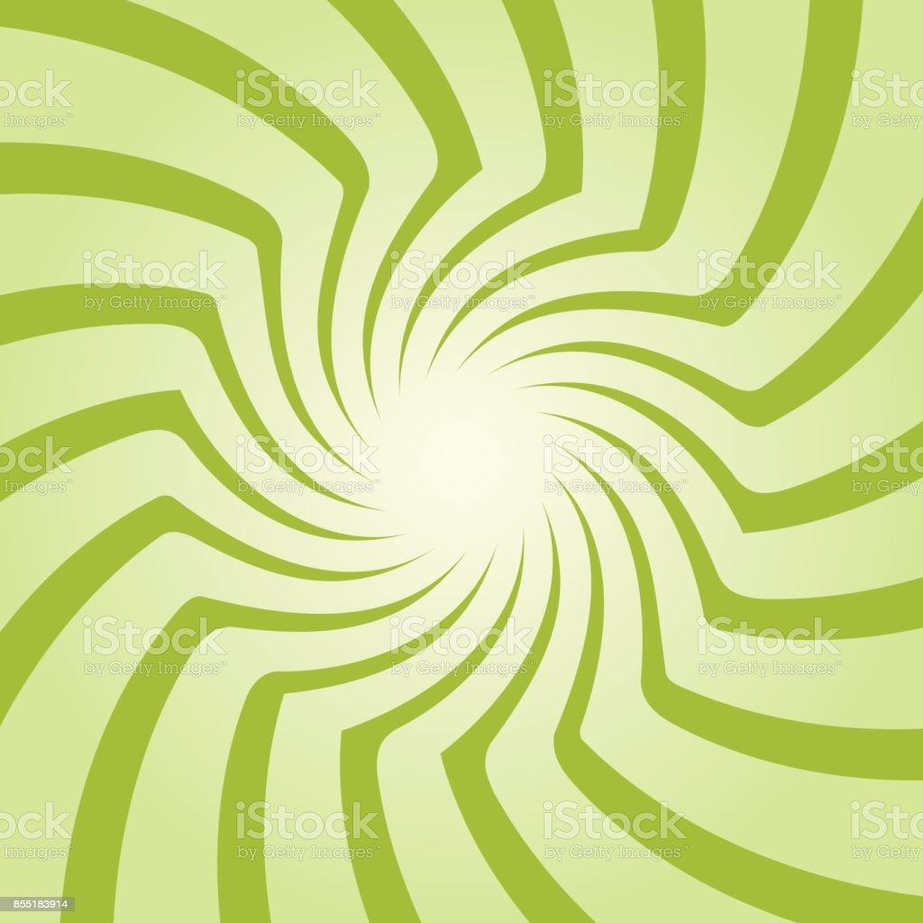 Spiral starburst, sunburst background set. Lines, stripes with twirl, rotating distortion effect. vector art illustration