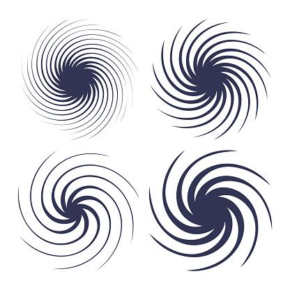 Spiral Swirl Design Elements