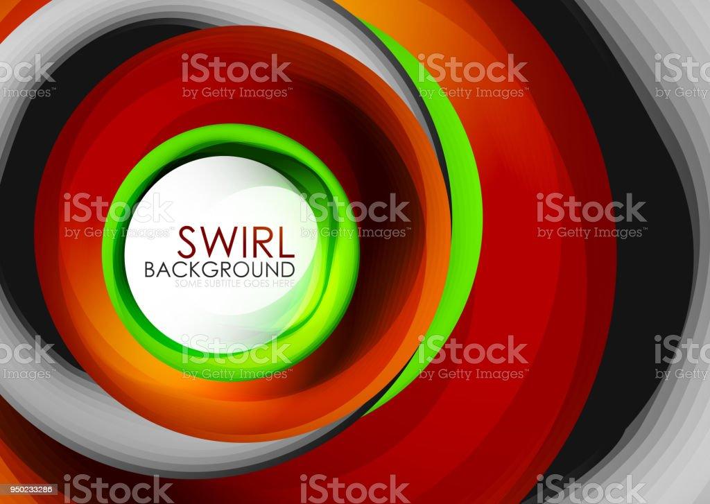 Spirale Wirbel Fließenden Linien 3d Vektor Abstrakte Digitale ...