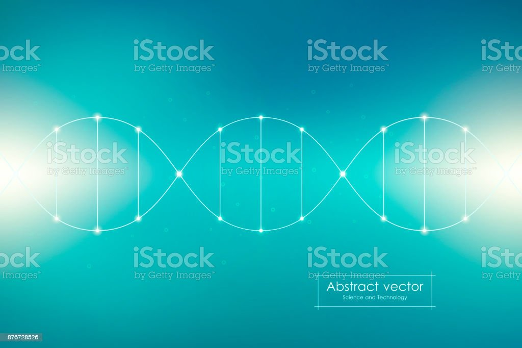 DNA spiral system, vector illustration vector art illustration