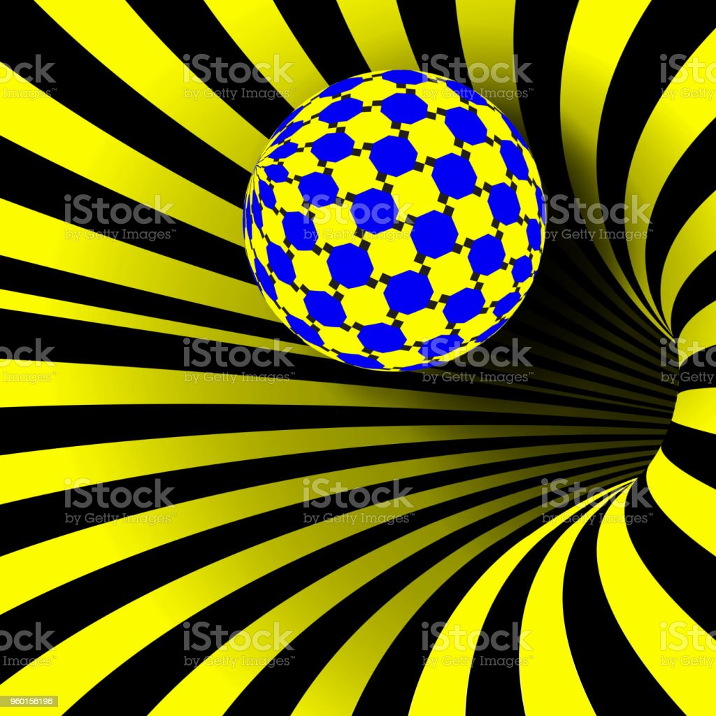 Spiral Vortex Vector. Illusion. Spiral Twisted Vortex Tunnel Shape. Motion Dynamic Effect. Swirl Hypnosis Fallacy Geometric Magic Illustration vector art illustration