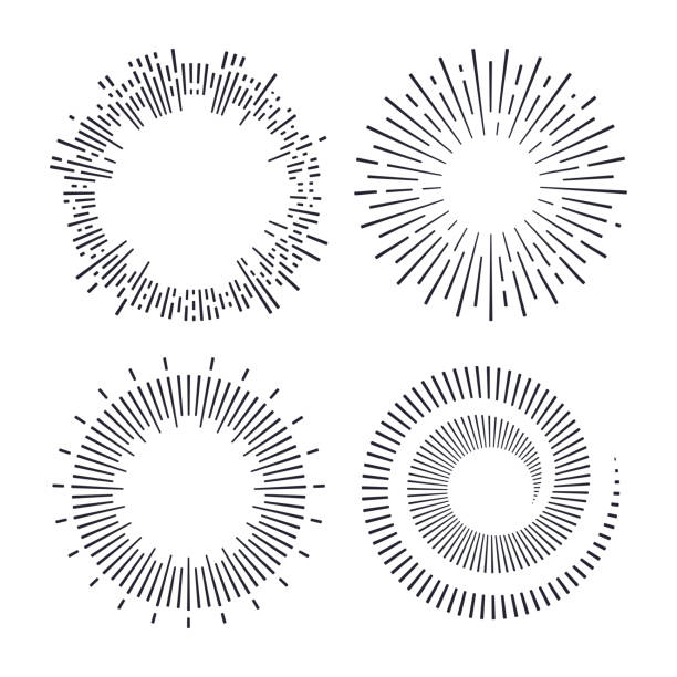 spirals and explosions - spark stock illustrations