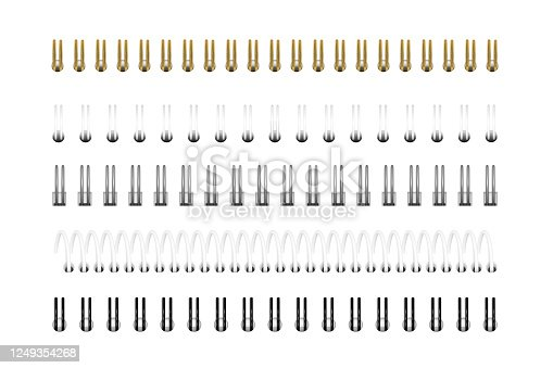 istock Spirals for notebook, calendar, drawing album 1249354268