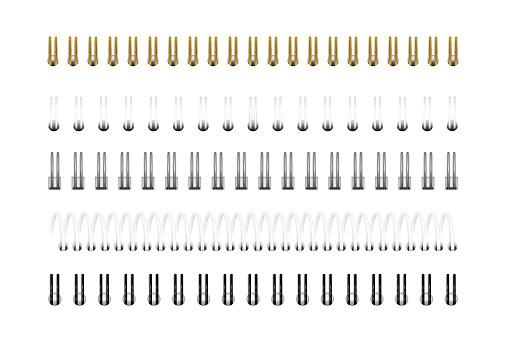 Spirals for notebook, calendar, drawing album