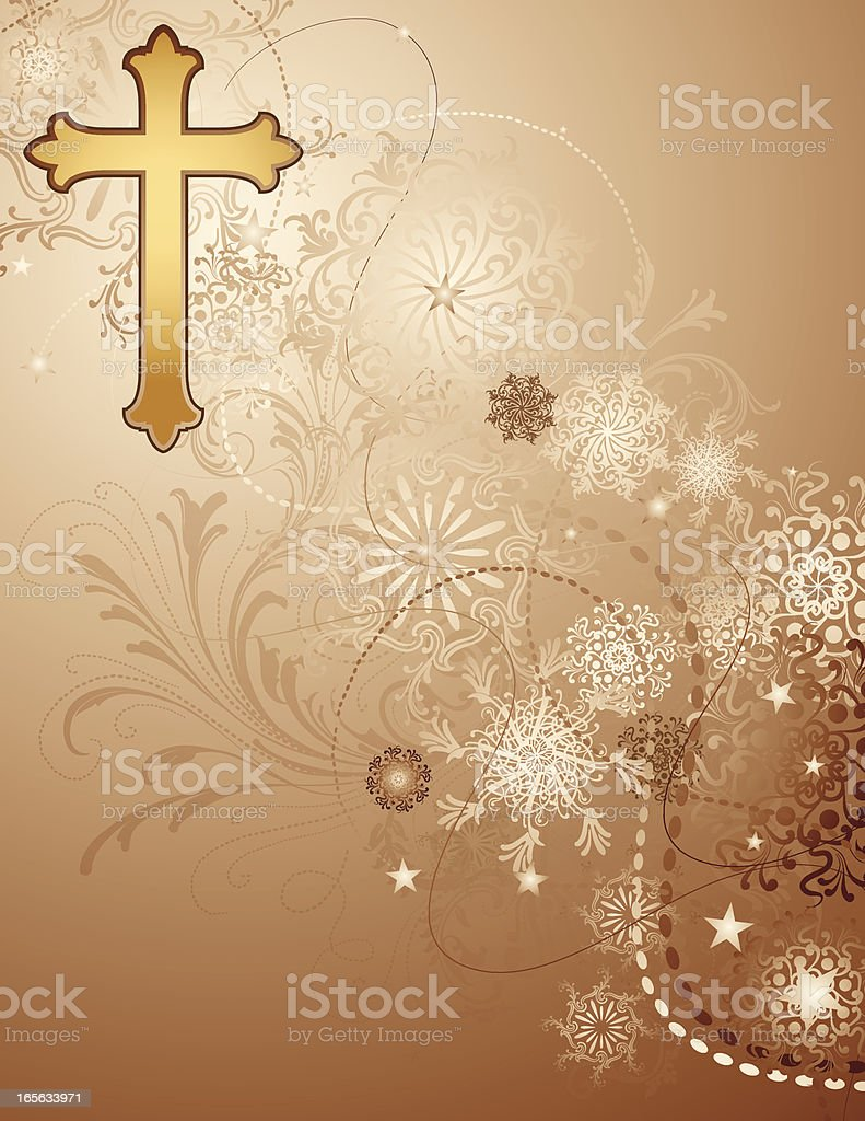 Spiritual Background with cross royalty-free stock vector art