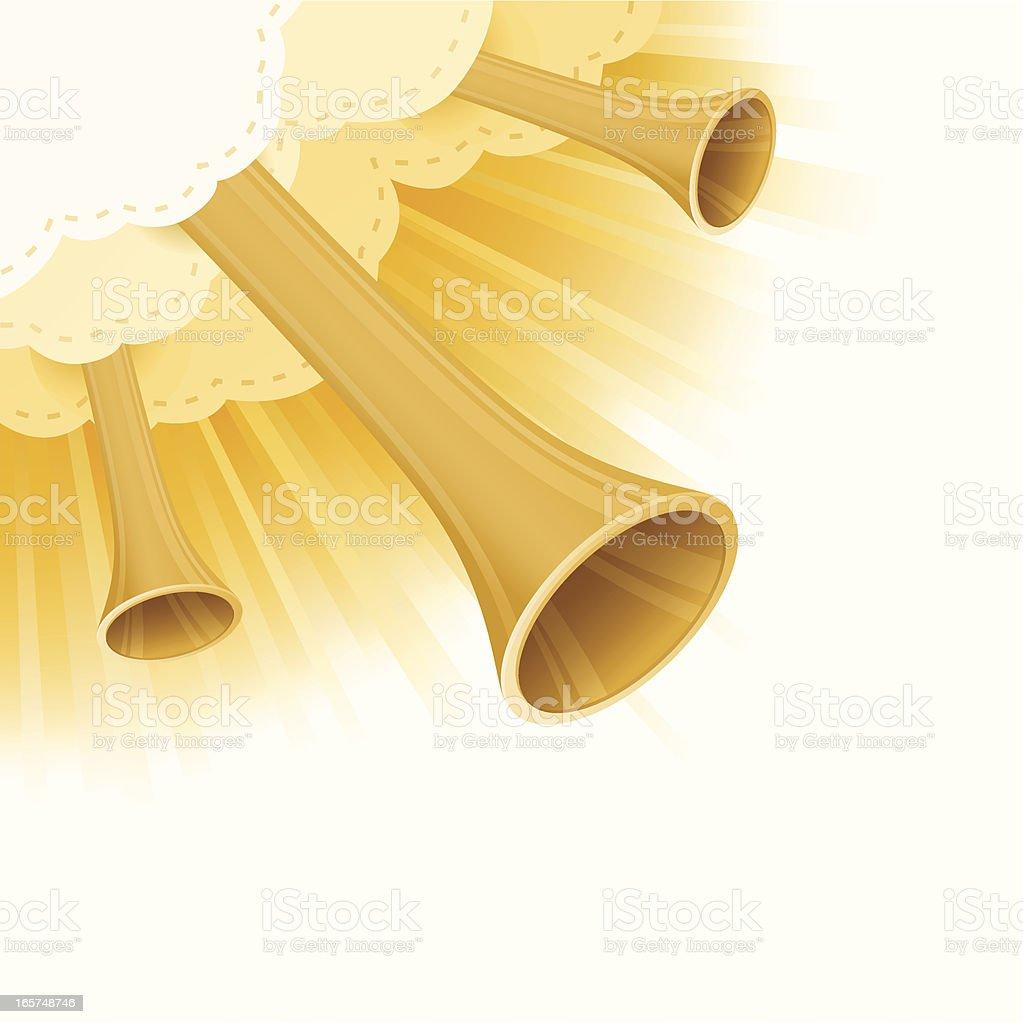 Spiritual Horns vector art illustration