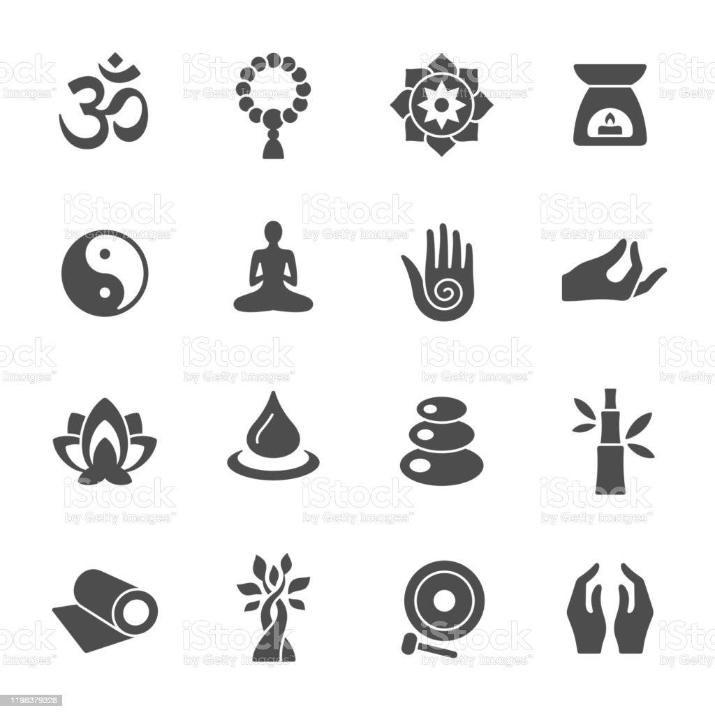 Spirituele iconen - Royalty-free Azië vectorkunst