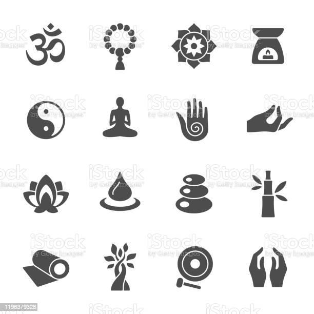 Spirituele Iconen Stockvectorkunst en meer beelden van Azië