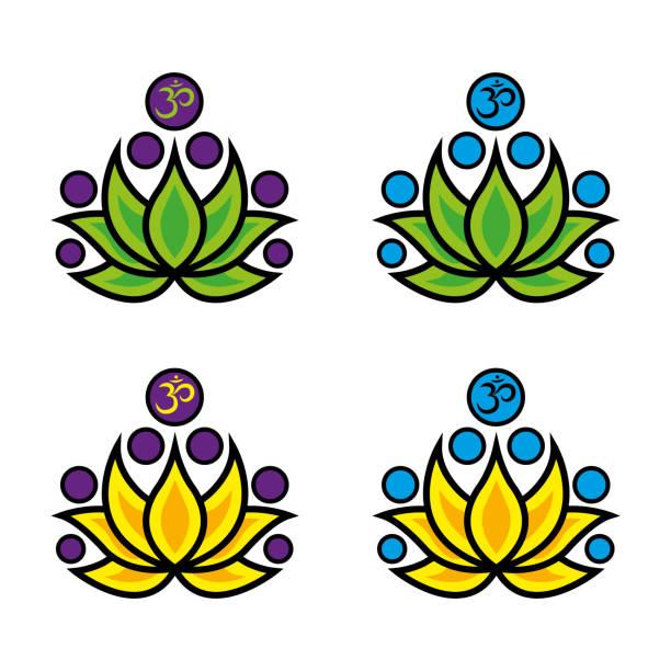 spirituelle symbole - mantra stock-grafiken, -clipart, -cartoons und -symbole