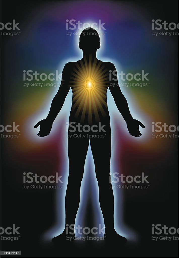 Spiritual Illumination Silhouette royalty-free stock vector art