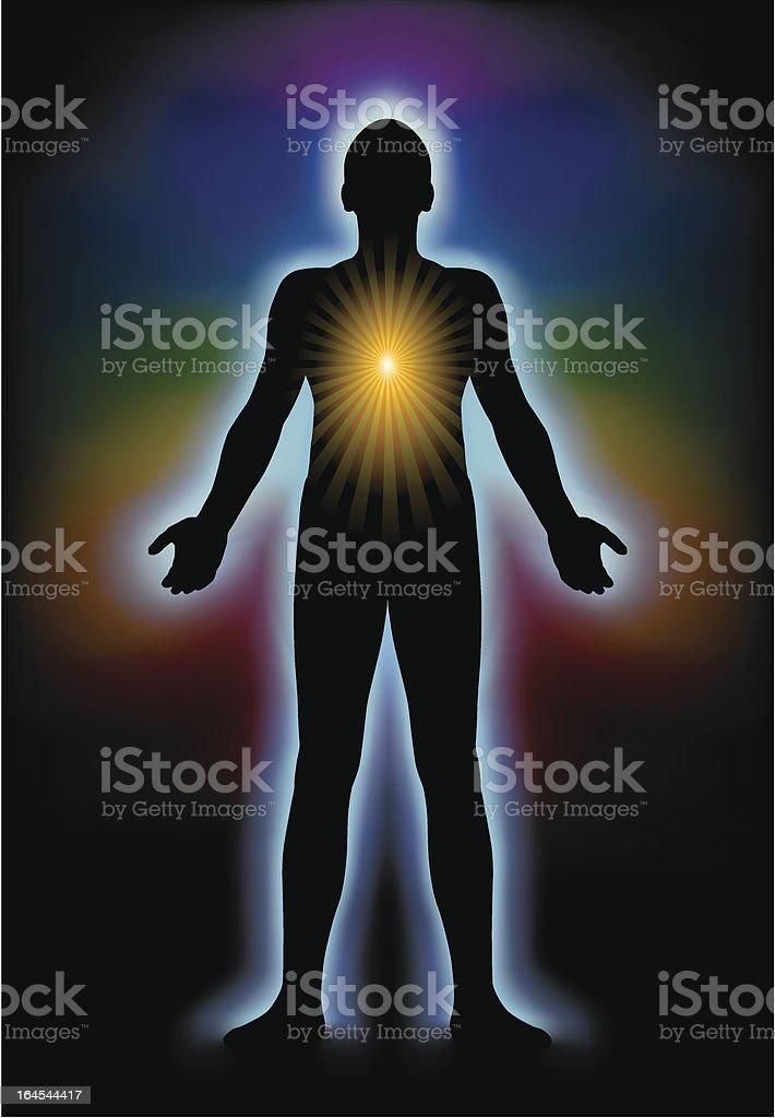 Spiritual Illumination Silhouette vector art illustration