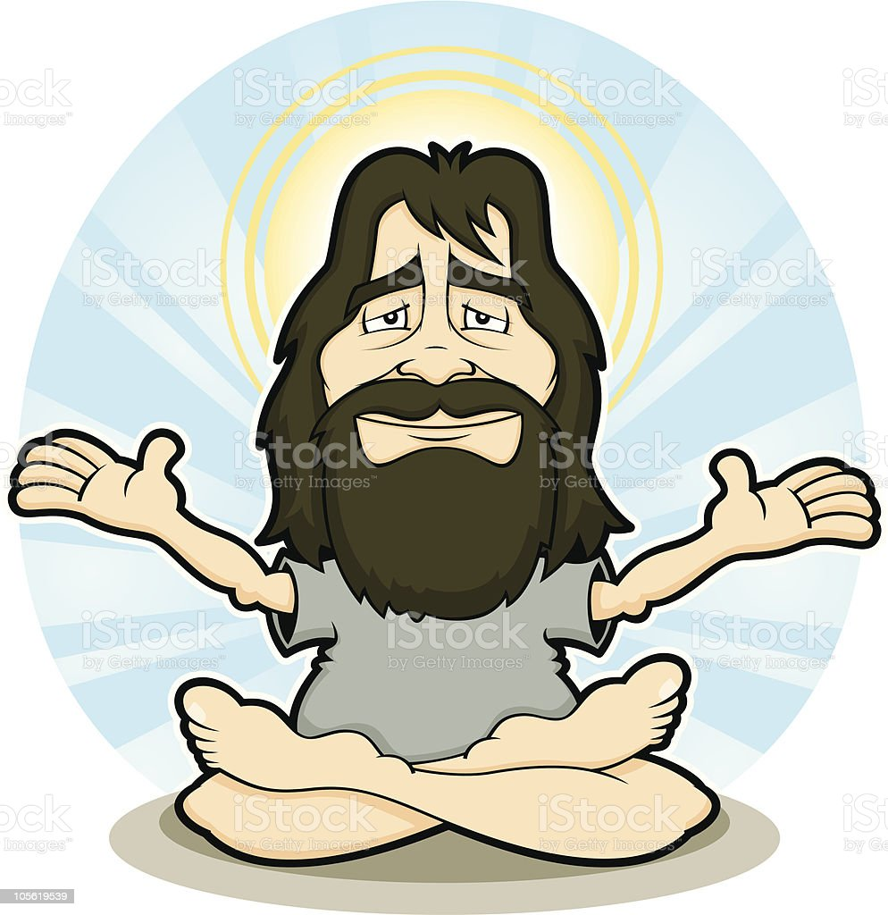 Spiritual Mystic Guru royalty-free stock vector art