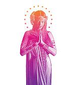 Spiritual Woman Praying