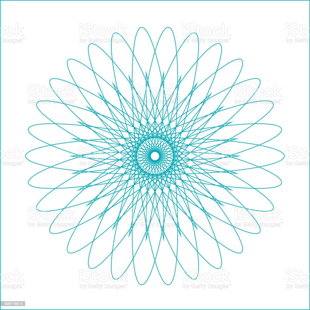Spirograph geometric shape suitable for watermark - vector isolated on white background vector art illustration