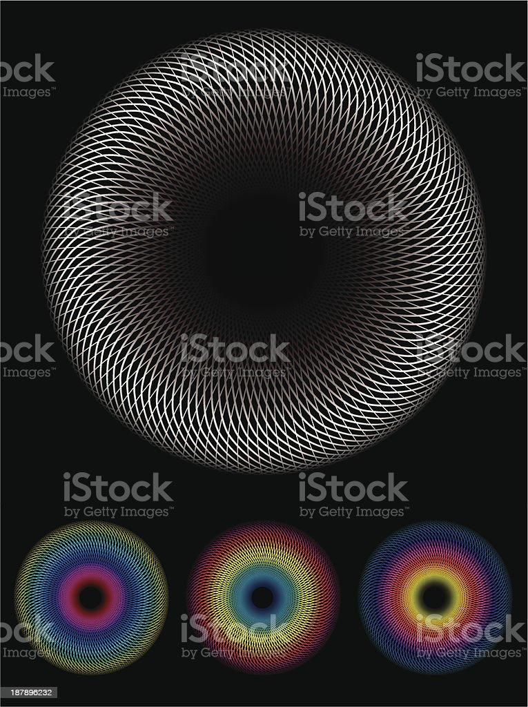 Spirograph image vector art illustration