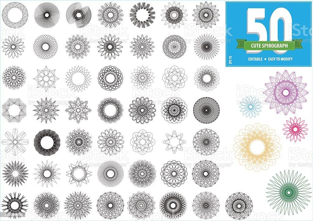 spirograph vector art illustration