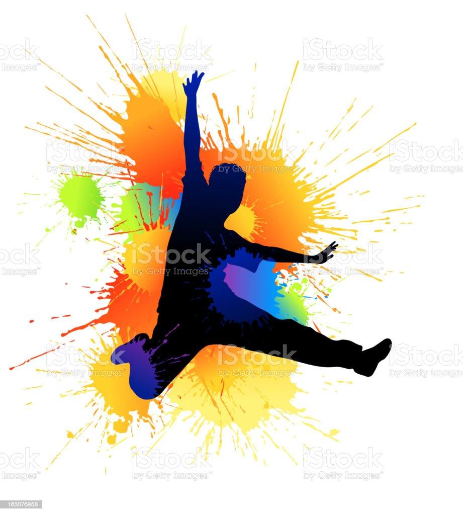 Splash dance vector art illustration