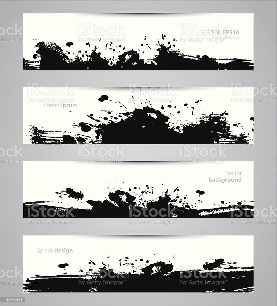Splash designs set royalty-free splash designs set stock vector art & more images of abstract