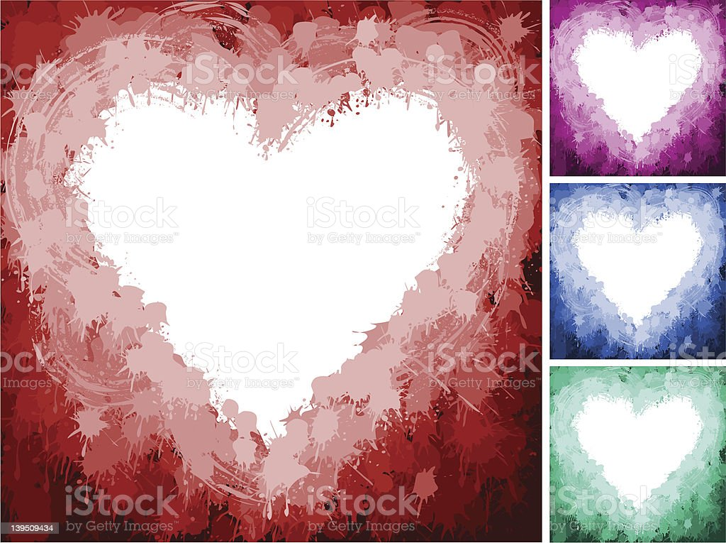 Splash Heart vector art illustration