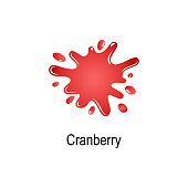 splash of cranberry juice icon. Element of colored splash illustration. Premium quality graphic design icon. Signs and symbols collection icon for websites, web design, mobile app on white background
