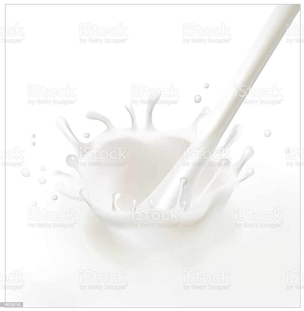 Splash of milk. royalty-free splash of milk stock vector art & more images of bubble