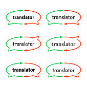 splash vector image of the translator.