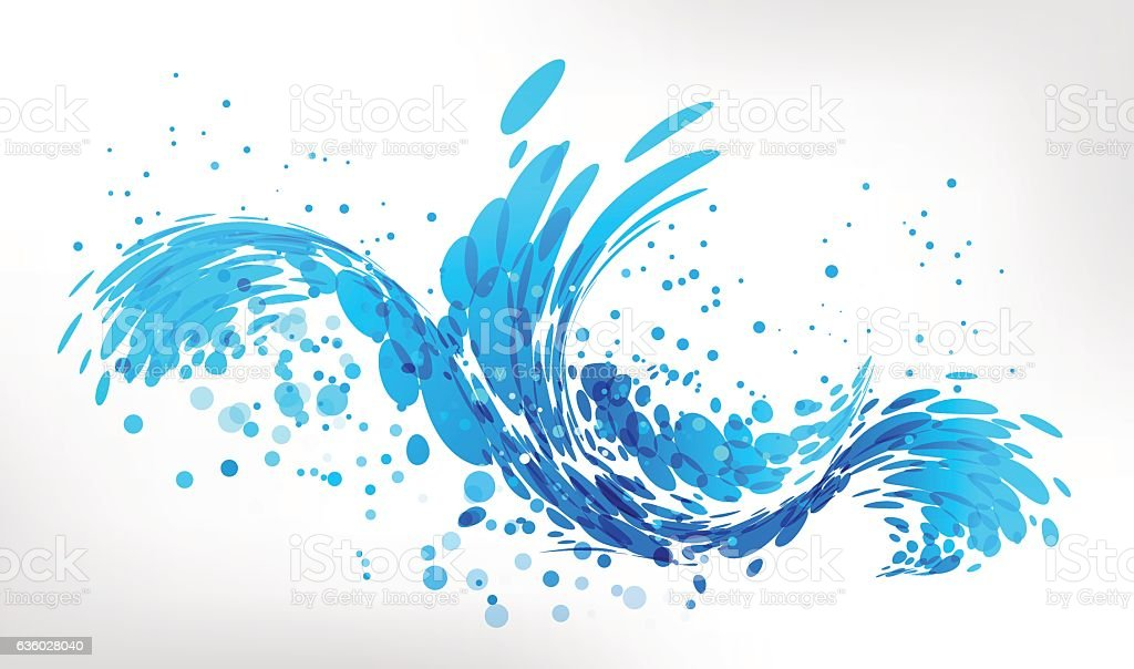 Splash water vector art illustration
