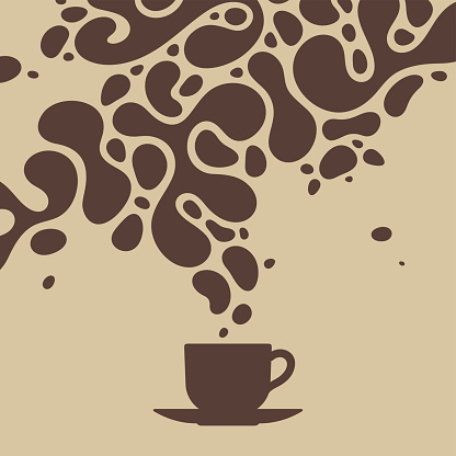 Splashes of coffee